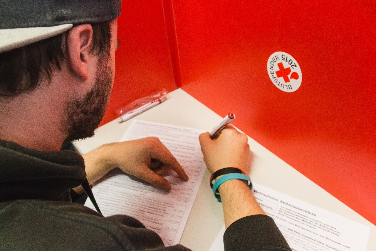 Blutspendetag 2016 Formular ausfüllen