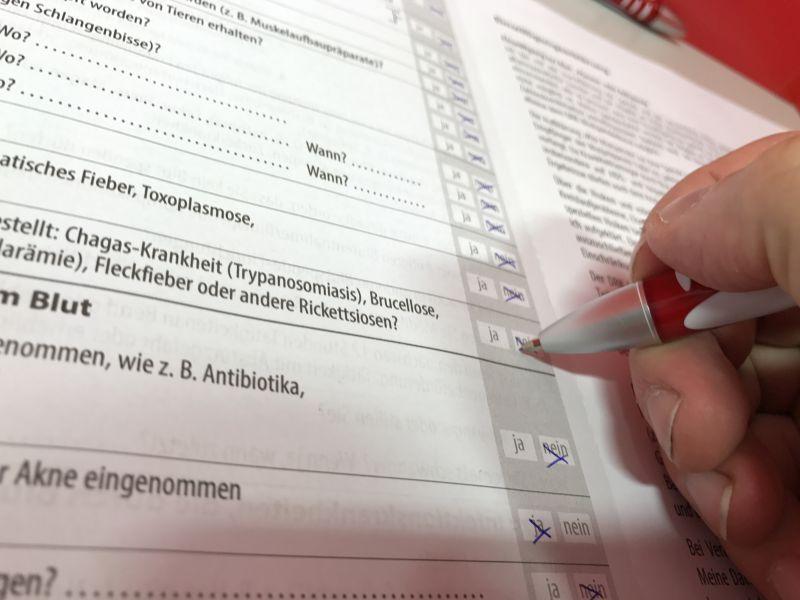 Blutspendetag 2017 Infomaterial