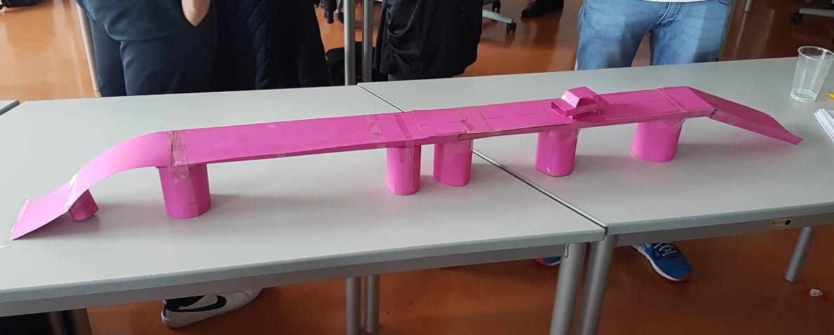 kleine Brücke bei Einführungsspiel Technikerschule