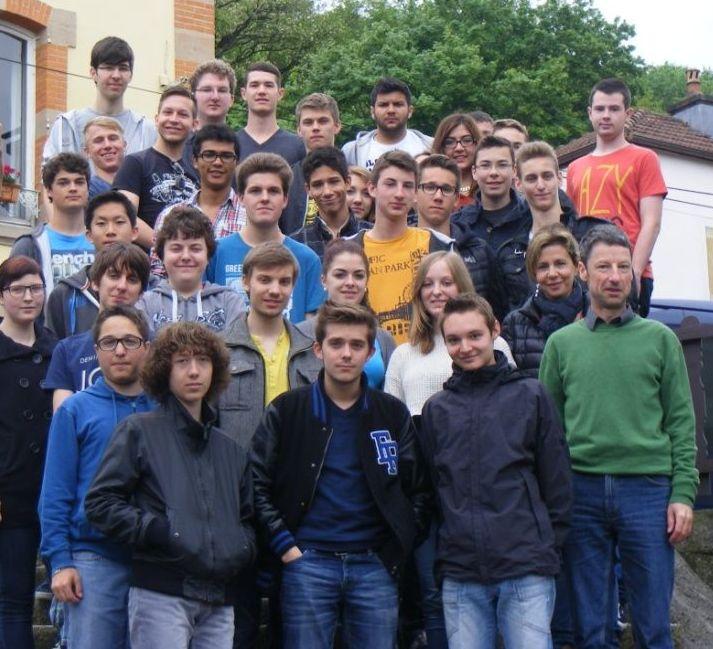 Gruppenfoto Frankreichaustausch