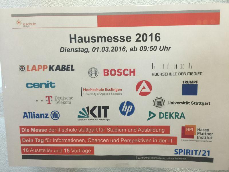 Infoplakat Hausmesse