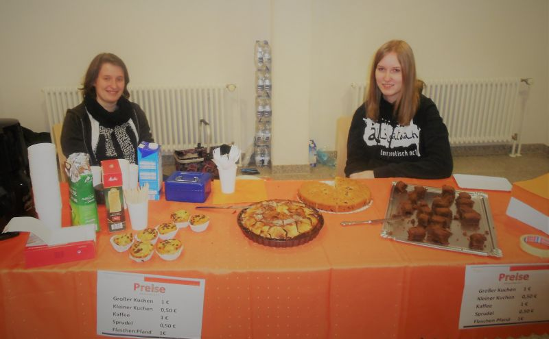 Kuchenbuffet der Abiturienten